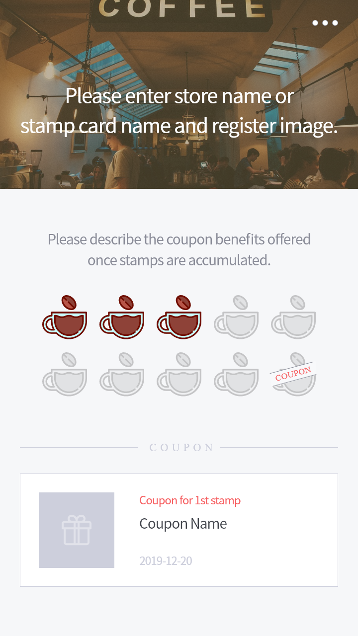 Loyalty Stamp Card DIY Service - Loyalty stamp card template